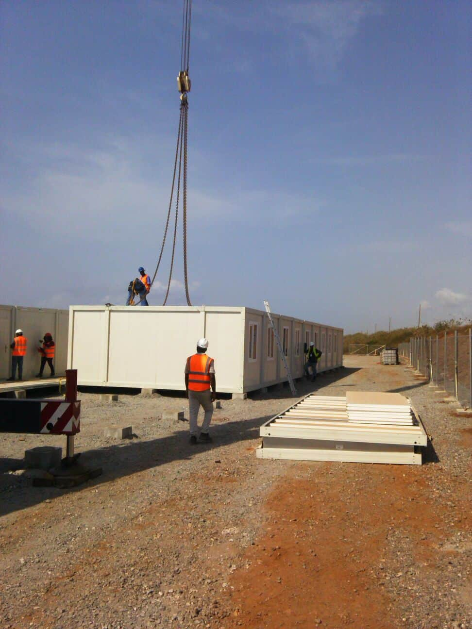 Ghana-Delivery Of Modular Containers