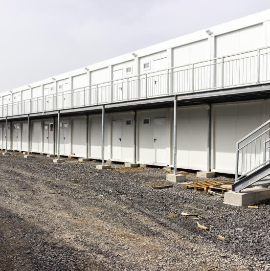 Delivery of Prefabricated Building to Ghana