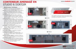 Conteneur Amenage En Studio & Dortoir