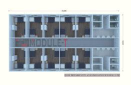 219m2 Prefabricated Accommodation Building