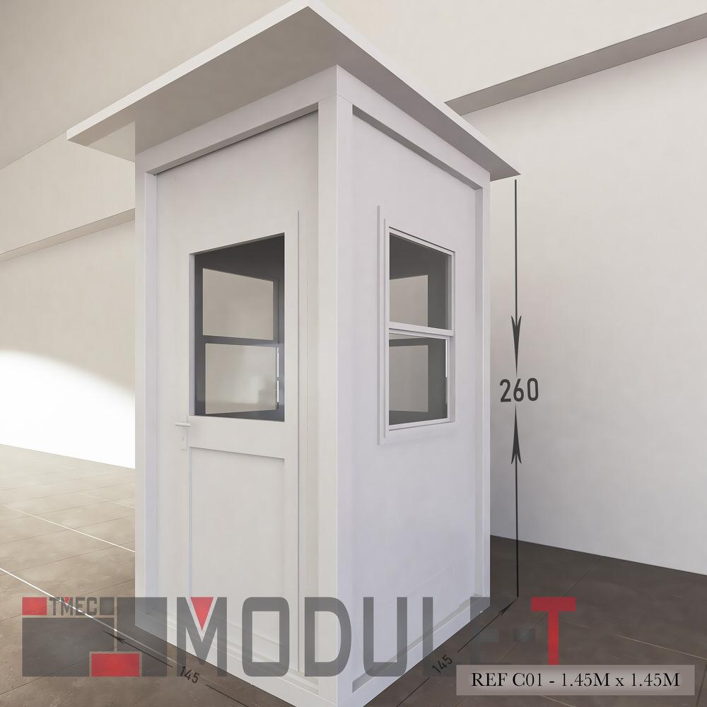 Caseta de vigilancia y quiosco - REF C01 - 1.45x1.45M - 2