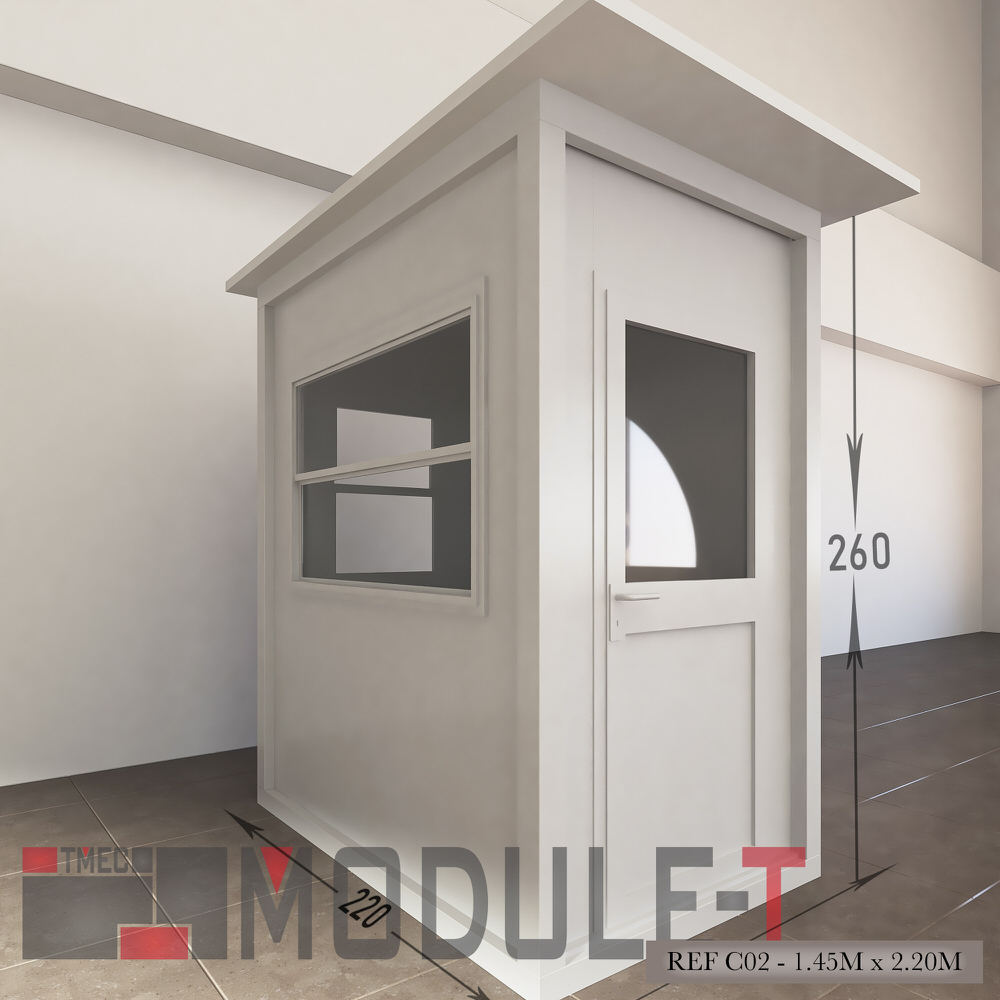 Caseta de vigilancia y quiosco - REF C02 - 1.45x2.20M - 1