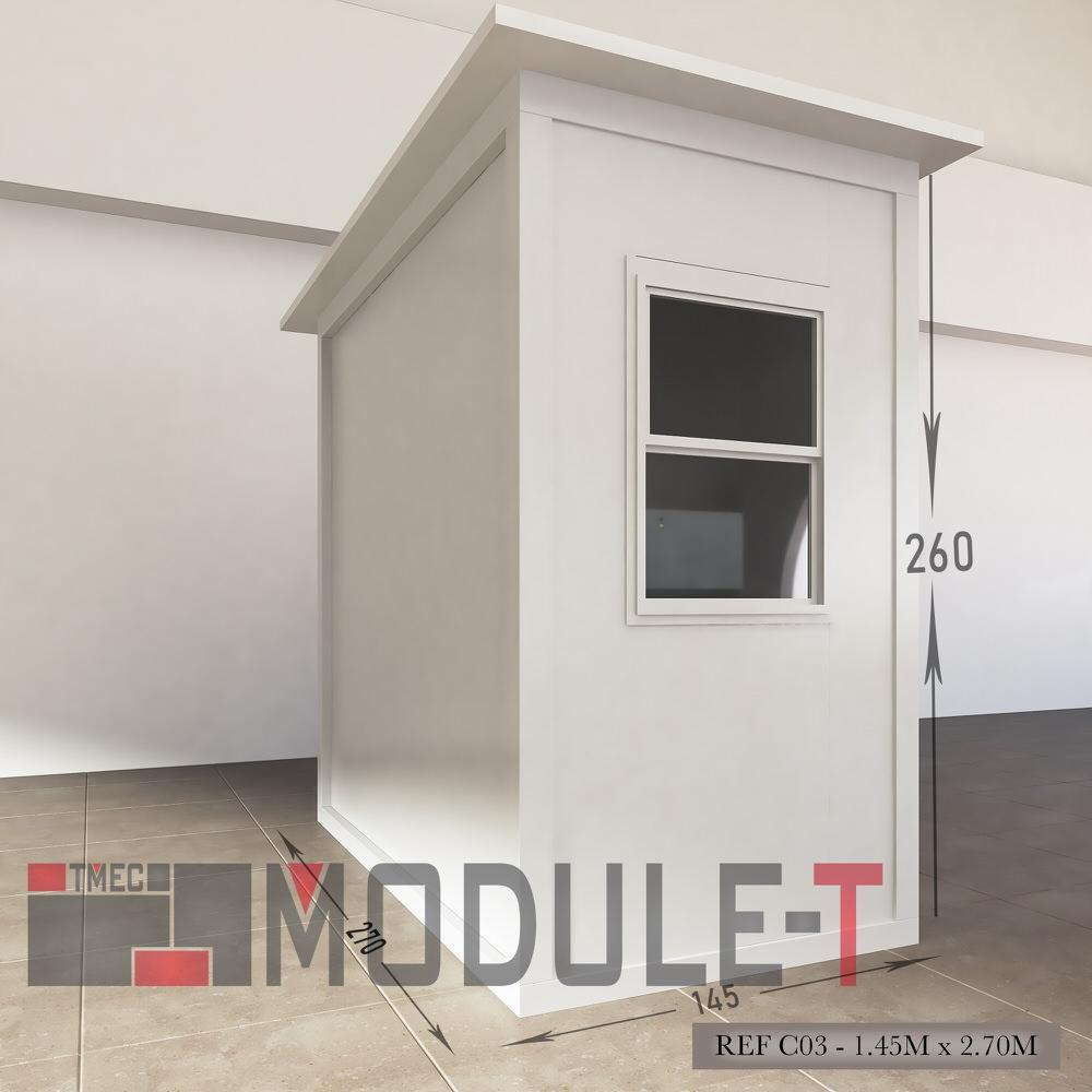 Caseta de vigilancia y quiosco - REF C03 - 1.45x2.70M - 2