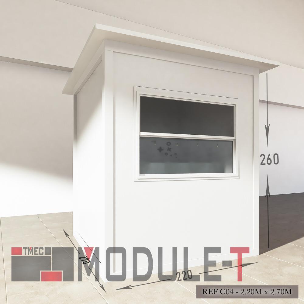 Caseta de vigilancia y quiosco - REF C04 - 2.20x2.70M - 2