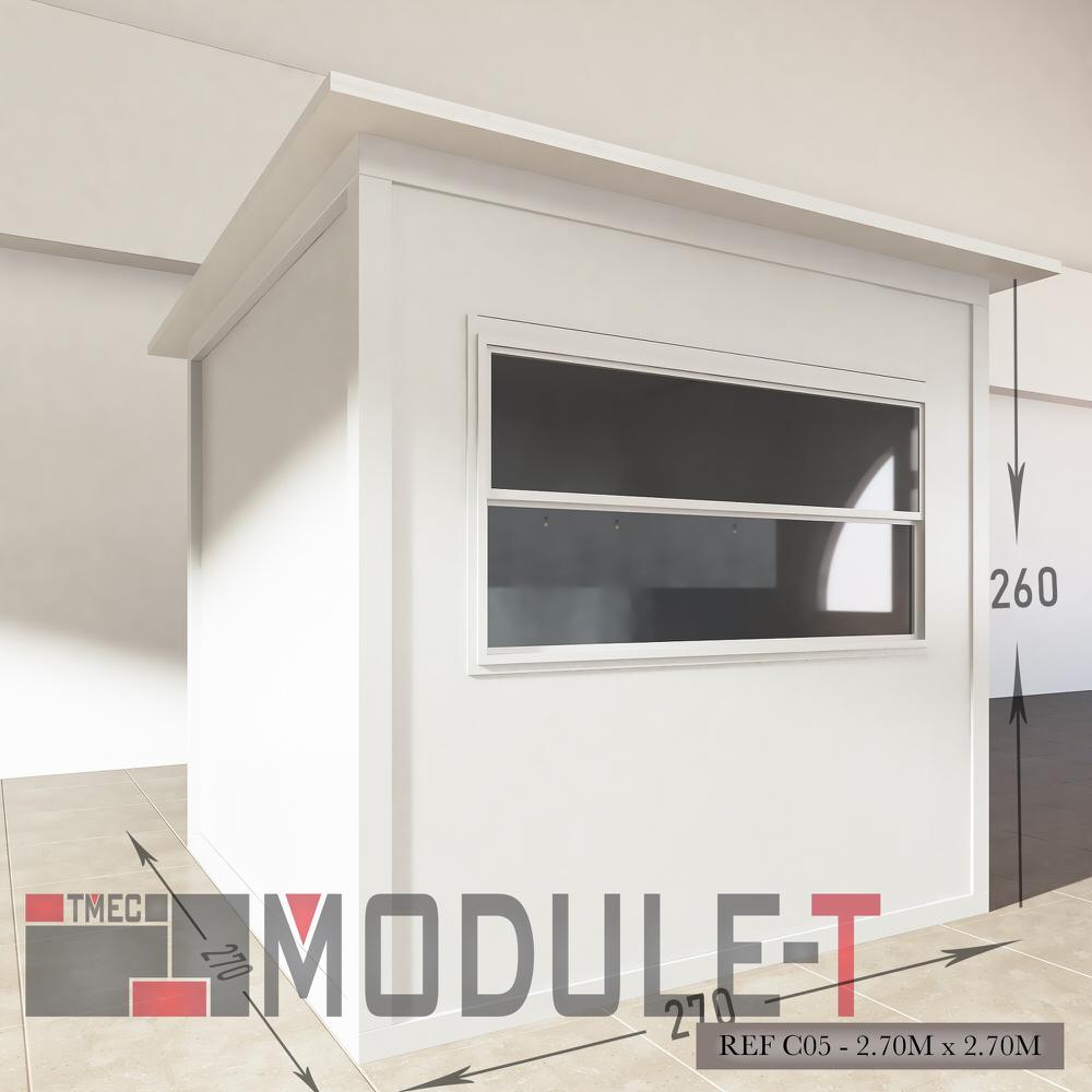 Caseta de vigilancia y quiosco - REF C05 - 2.70x2.70M - 2
