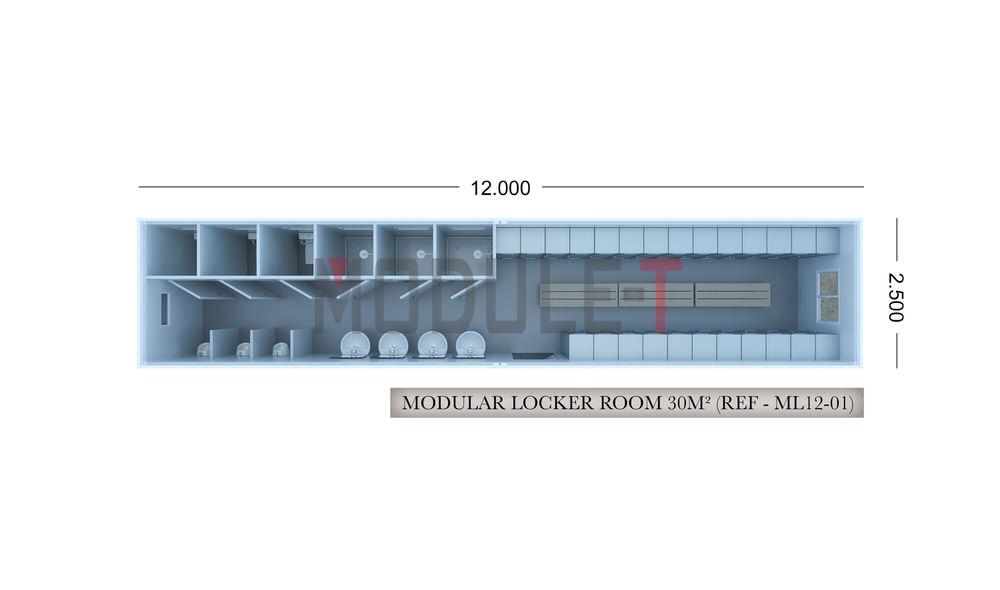 modular locker room cabins